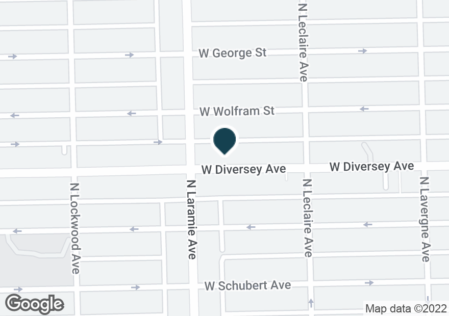 Google Map of5140 W DIVERSEY AVE