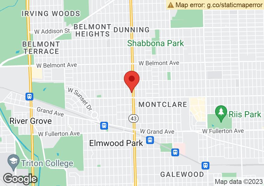 Google Map of 2828 N HARLEM AVE