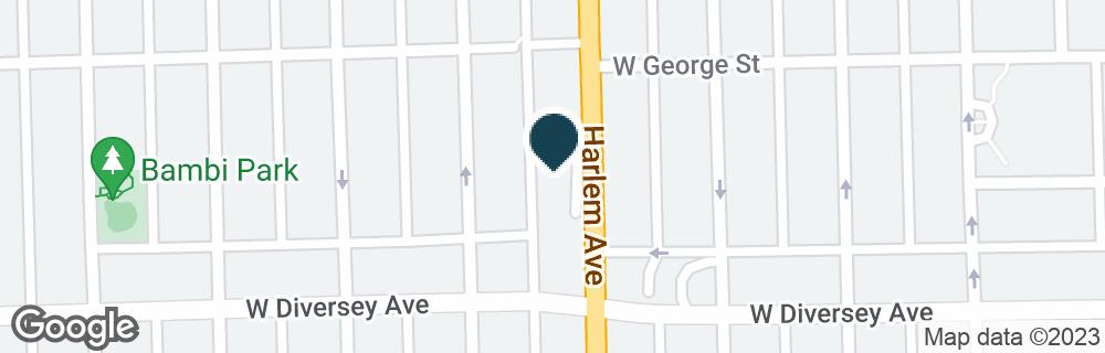 Google Map of2828 N HARLEM AVE