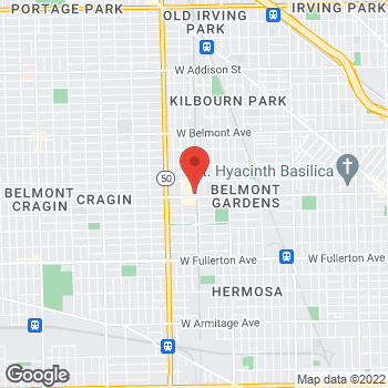 Map of Sprint at 4604 W Diversey Ave, Chicago, IL 60639