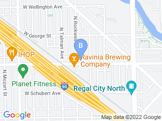 Map of Active! Dog Daycare Dog Boarding options in Chicago | Boarding