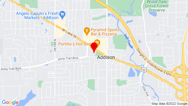 Google Map of 1 Friendship Plaza, Addison, IL 60101
