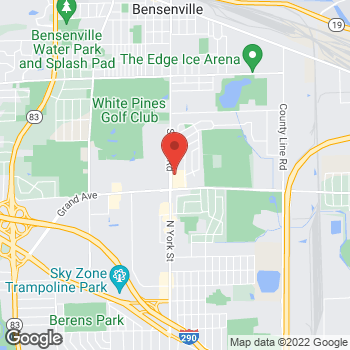 Map of Check `n Go at 1047 South York Road, Bensenville, IL 60106