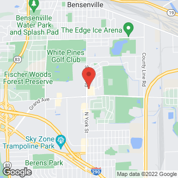 Map of Check `n Go York Road at 1047 South York Road, Bensenville, IL 60106