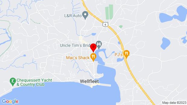 Google Map of 15 Commercial Street, Wellfleet, MA 02667