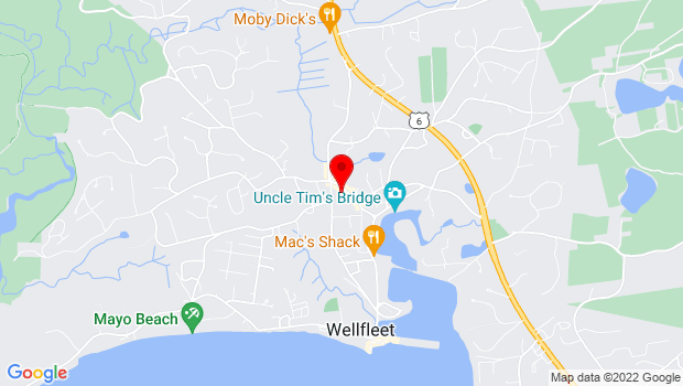 Google Map of 335 Main St., Wellfleet, MA 02667