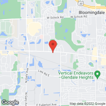 Map of Hair Cuttery at 318 W Army Trail Rd, Bloomingdale, IL 60108