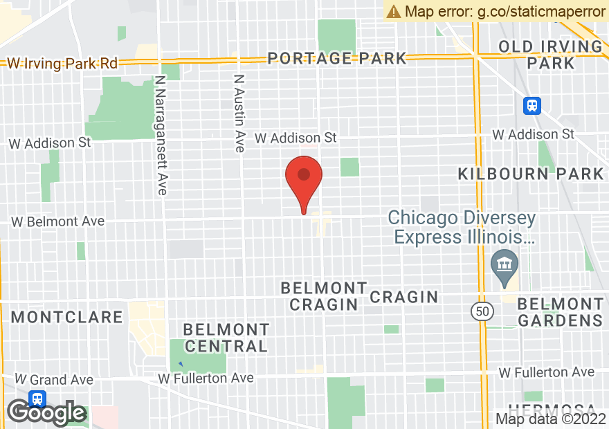 Google Map of 5650 W BELMONT AVE