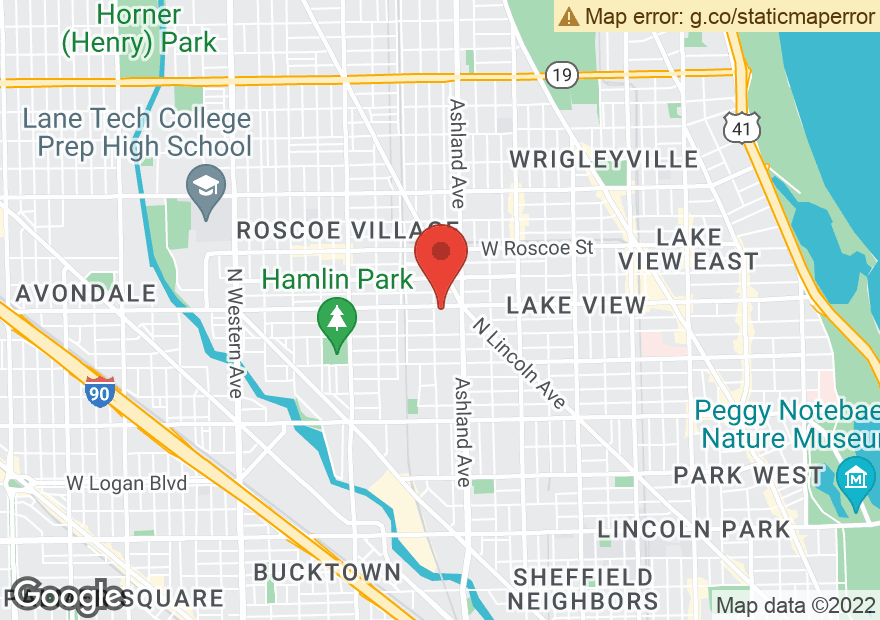 Google Map of 1649 W BELMONT AVE