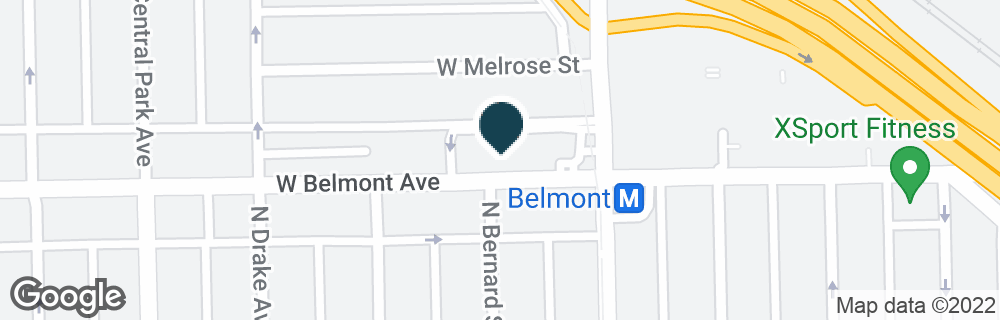 Google Map of3424 W BELMONT AVE
