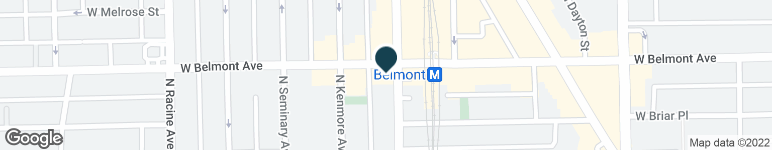 Google Map of1001 W BELMONT AVE