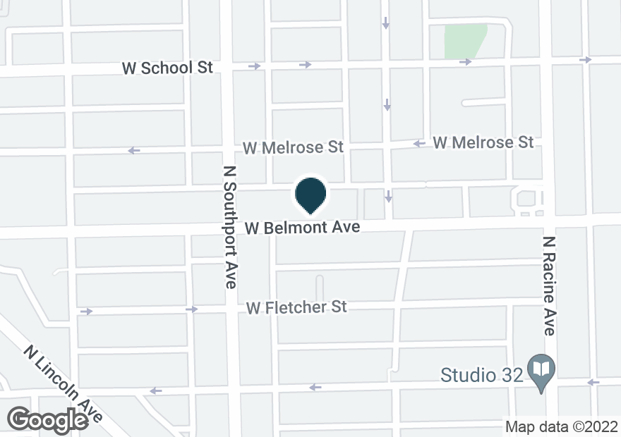 Google Map of1333 W BELMONT AVE