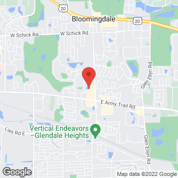 Map of Check `n Go at 2222 Bloomingdale Rd., Glendale Heights, IL 60139
