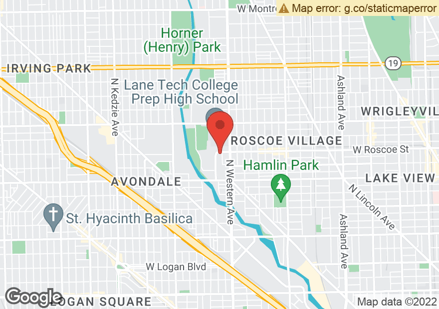 Google Map of 3358 N WESTERN AVE