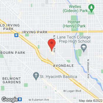 Map of Panera Bread at 3517 N Spaulding Avenue, Chicago, Illinois 60618