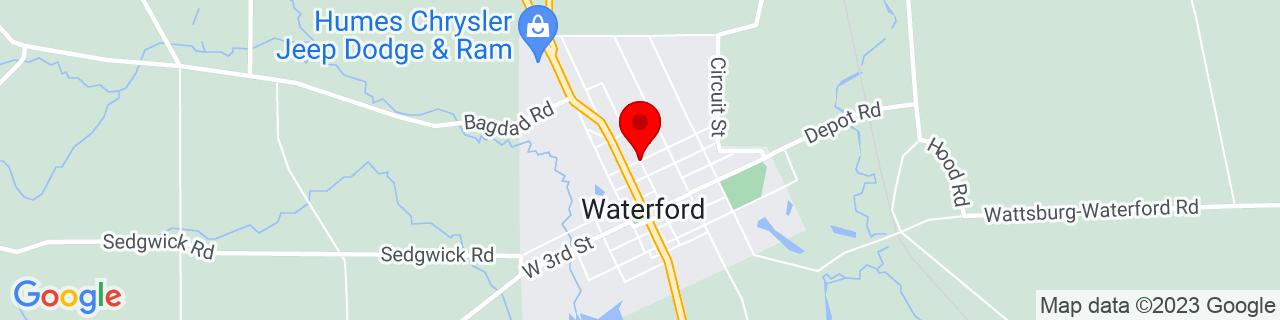 Google Map of 41.9459019, -79.98476