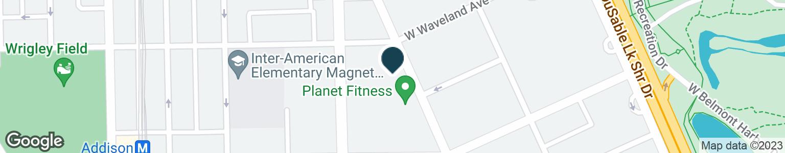 Google Map of3646 N BROADWAY ST
