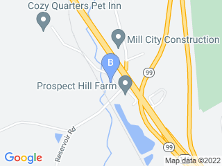 Map of Cozy Quarters Pet Inn Dog Boarding options in Lincoln | Boarding