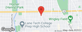 Map of 3843 N Lincoln Ave in Chicago