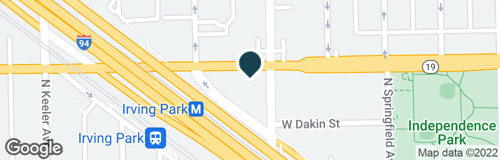Google Map of4001 W IRVING PARK RD