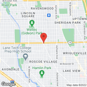 Map of Fifth Third Mortgage - Michael Rash at 3959 North Lincoln Avenue, Chicago, IL 60613