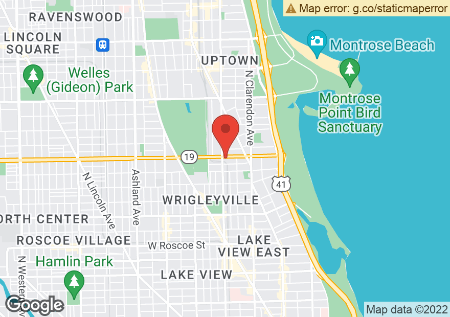 Google Map of 953 W IRVING PARK RD