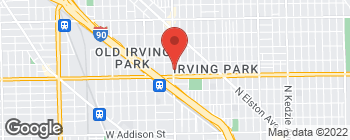 Map of 4027 N Pulaski Rd in Chicago
