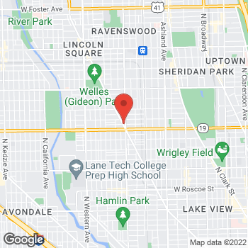Map of Hair Cuttery at 4033 N Lincoln Ave, Chicago, IL 60618