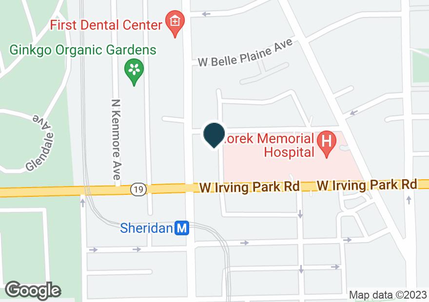 Google Map of4025 N SHERIDAN RD