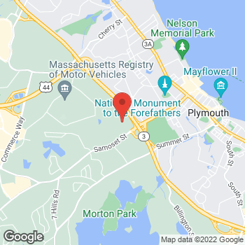 Map of Hair Cuttery at 123 Samoset Street, Plymouth, MA 02360
