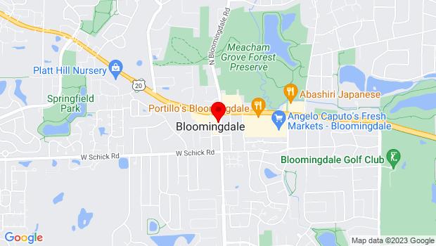 Google Map of 108 S. Bloomingdale Road, Bloomingdale, IL 60108