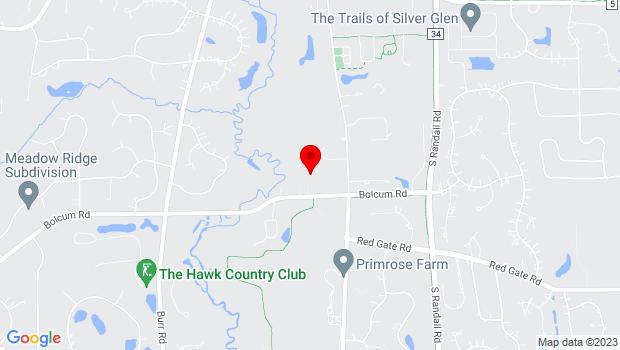 Google Map of 37W570 Bolcum Rd., Saint Charles, IL 60175
