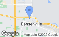 Map of Bensenville, IL