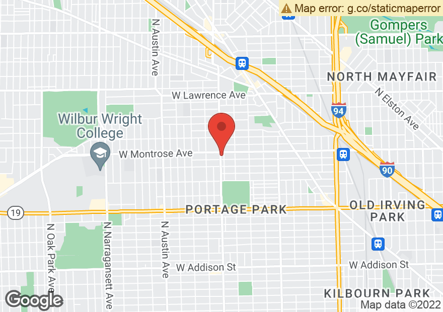 Google Map of 4343 N CENTRAL AVE