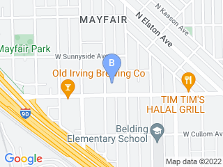 Map of Marcias Fur & Feathers Service Dog Boarding options in Chicago | Boarding