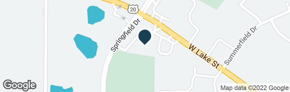 Google Map of270 W LAKE ST
