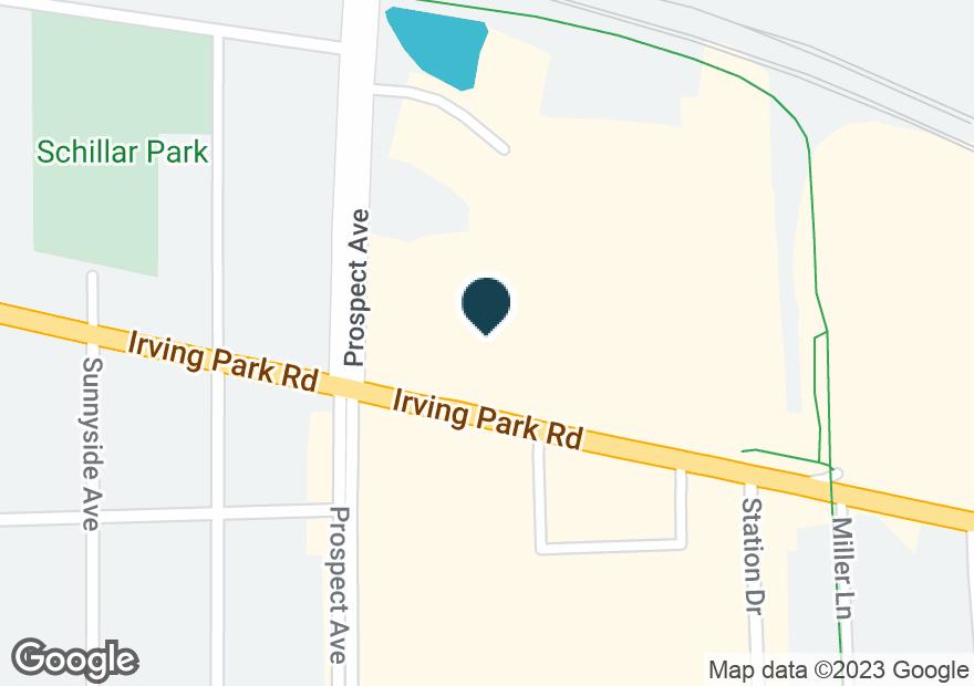 Google Map of1325 E IRVING PARK RD