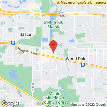 Map of Dr. Judith Bobus and Dr. Stephanie Drnek at 363 W. Irving Park, Wood Dale, IL 60191
