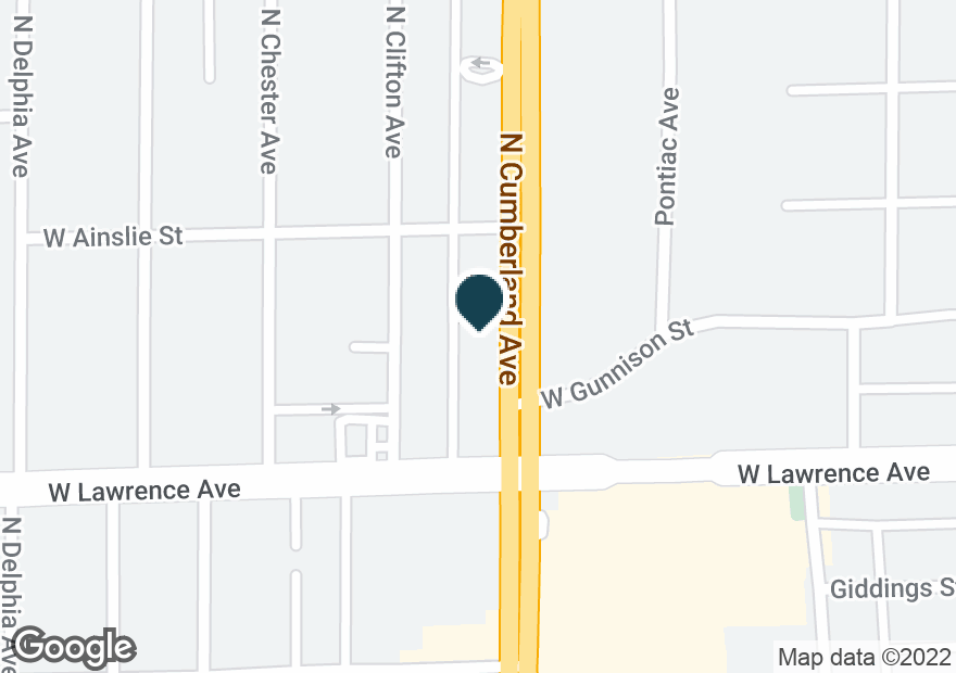 Google Map of4820 N CUMBERLAND AVE
