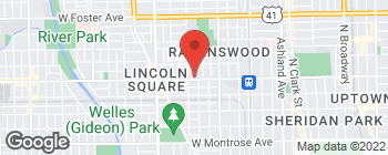 Map of 2134 W Lawrence Ave in Chicago