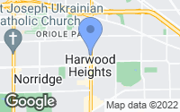 Map of Harwood Heights, IL