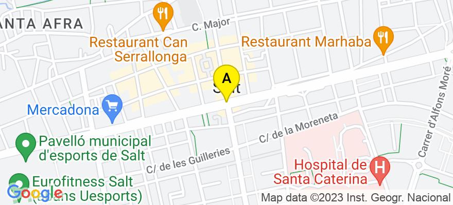 situacion en el mapa de . Direccion: C/Major nº30, pis 1º, 17190 Salt. Girona