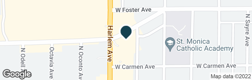 Google Map of7155 W FOSTER PL