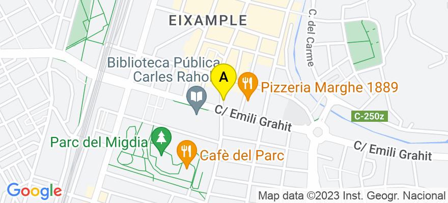 situacion en el mapa de . Direccion: C/ Migdia 37, 5º E, 17002 Girona. Girona
