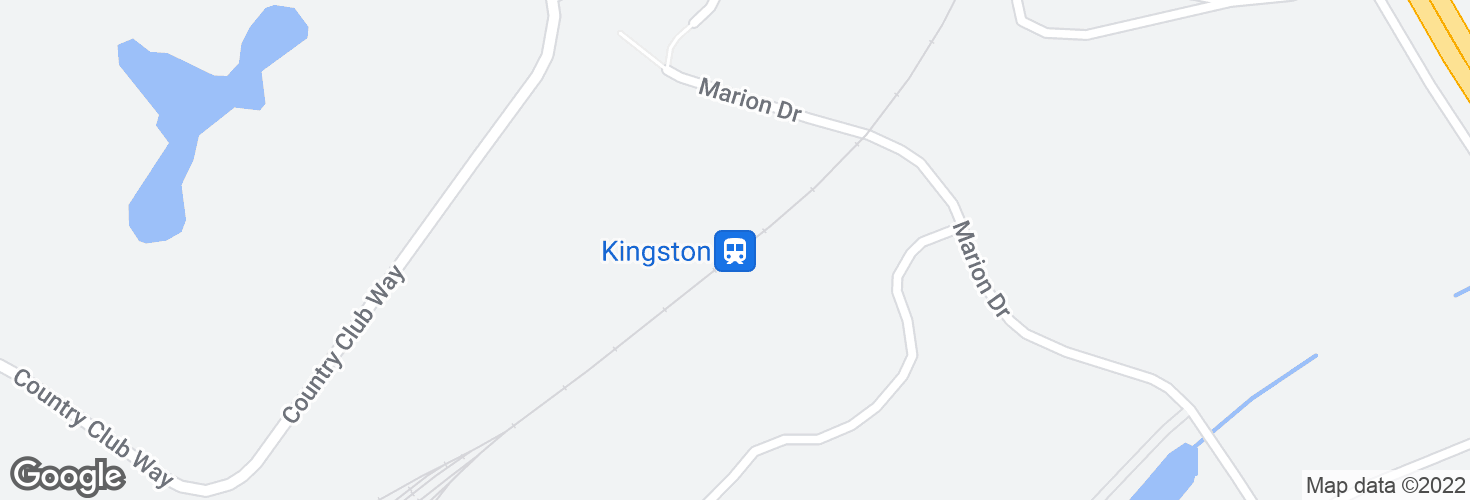 Map of Kingston and surrounding area