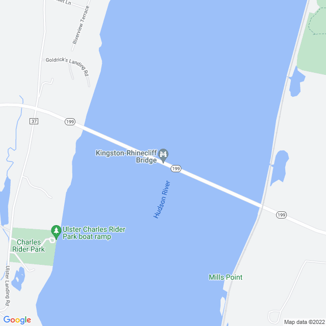 Map of Kingston Rhinecliff Bridge