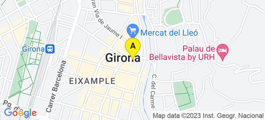situacion en el mapa de . Direccion: c/ Ultonia 9, 2º 3ª, 17002 Girona. Girona