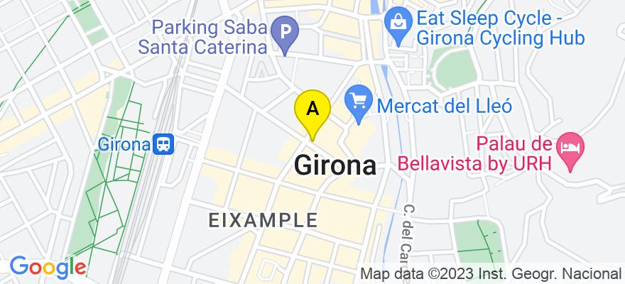 situacion en el mapa de . Direccion: Santa Eugènia, 1, 1º -2ª, 17001 Girona. Girona