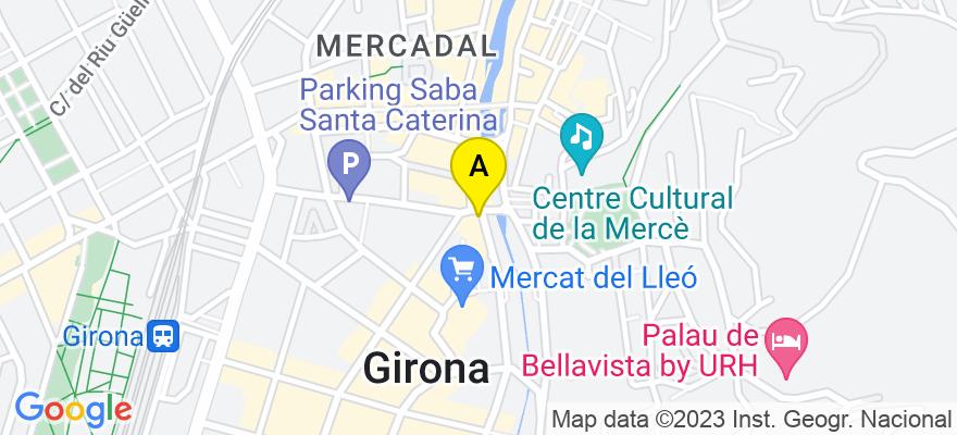 situacion en el mapa de . Direccion: Gral. Mendoza 1, 7º b, 17002 Girona. Girona