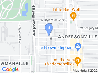 Map of Andersonville Pet Sitting Dog Boarding options in Chicago | Boarding
